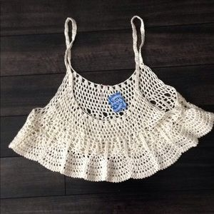 Free People Crochet Cami